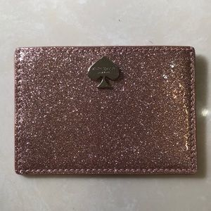 Kate Spade Rose Gold Sparkle Card Wallet